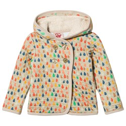 Tootsa MacGinty Ame Raindrop Quilted Hoodie Almond
