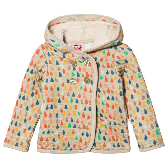 Tootsa MacGinty Ame Raindrop Quilted Hoodie Almond Almond
