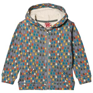 Image of Tootsa MacGinty Ame Raindrop Hoodie Pewter 3-4 years (3125304941)