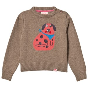 Image of Tootsa MacGinty Etsuko Dog Knit Sweater Biscuit 0-6 months (3125304961)