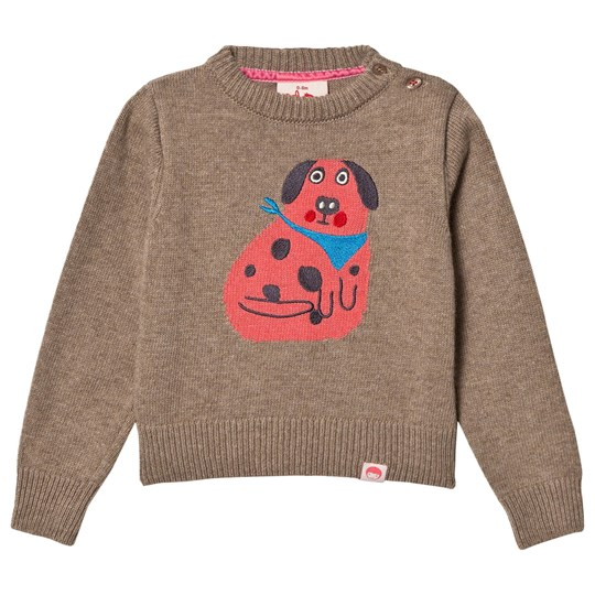 Tootsa MacGinty Etsuko Dog Knit Sweater Biscuit Biscuit