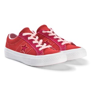 Converse Red and Pink One Star OX Junior Sneakers 28.5 (UK 11)