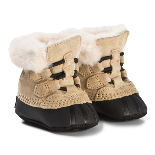Sorel Curry and Black Caribootie Booties 373 CURRY, BLACK