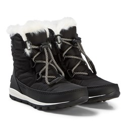 Sorel Whitney™ Short Lace Boots Black and Sea Salt