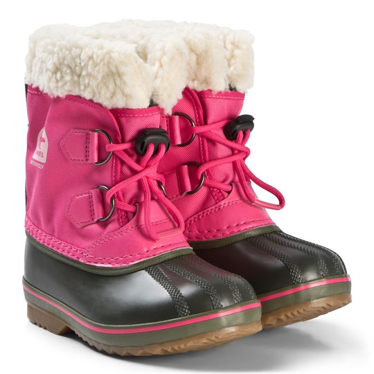 Sorel Yoot Pac™ Nylon Boots Ultra Pink and Alpine Tundra 698 ULTRA PINK, ALPINE TUNDRA