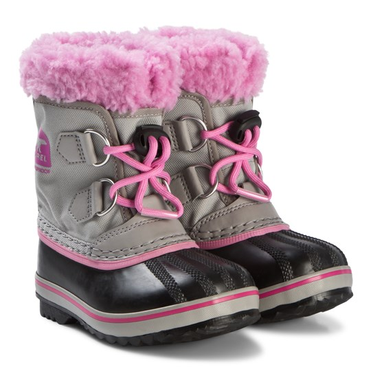 Sorel Yoot Pac™ Nylon Boots Chrome Grey and Orchid 061 CHROME GREY, ORCHID