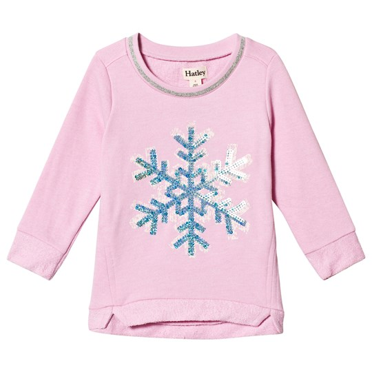 Hatley Pink Sequin Snowflake T-Shirt Pink