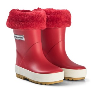 Image of Muddy Puddles Puddleflex Fleece-Lined Rain Boots Red 31 (UK 12) (3125284119)