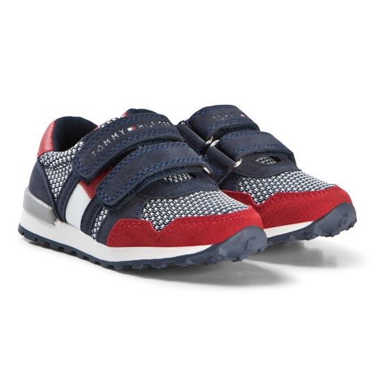 Tommy Hilfiger Red and Blue Sneakers X049