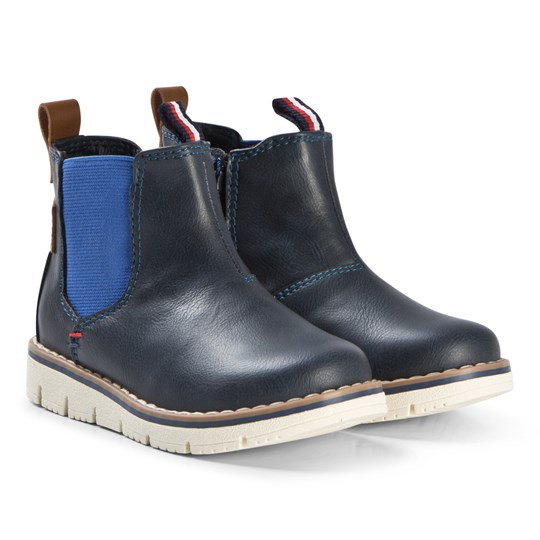 Tommy Hilfiger Navy and Royal Blue Chelsea Boots 800