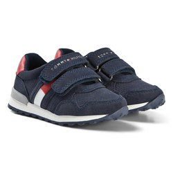 Tommy Hilfiger Blue Velcro Flag Sneakers