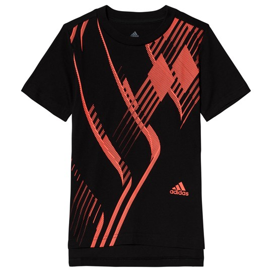 adidas Performance Black & Red Predator T-Shirt BLACK/SOLAR RED