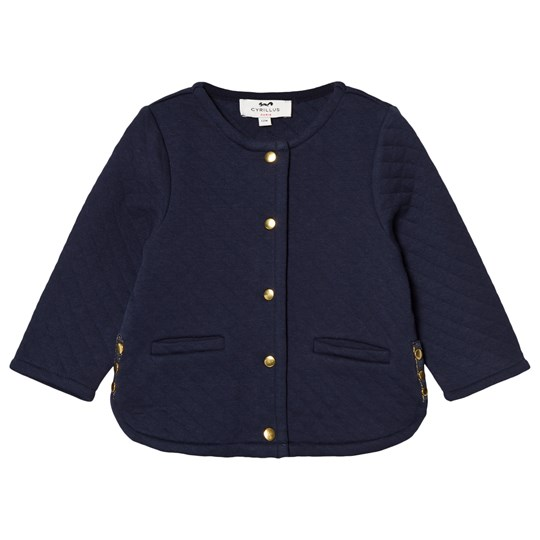 Cyrillus Navy Quilted Jacket 6399