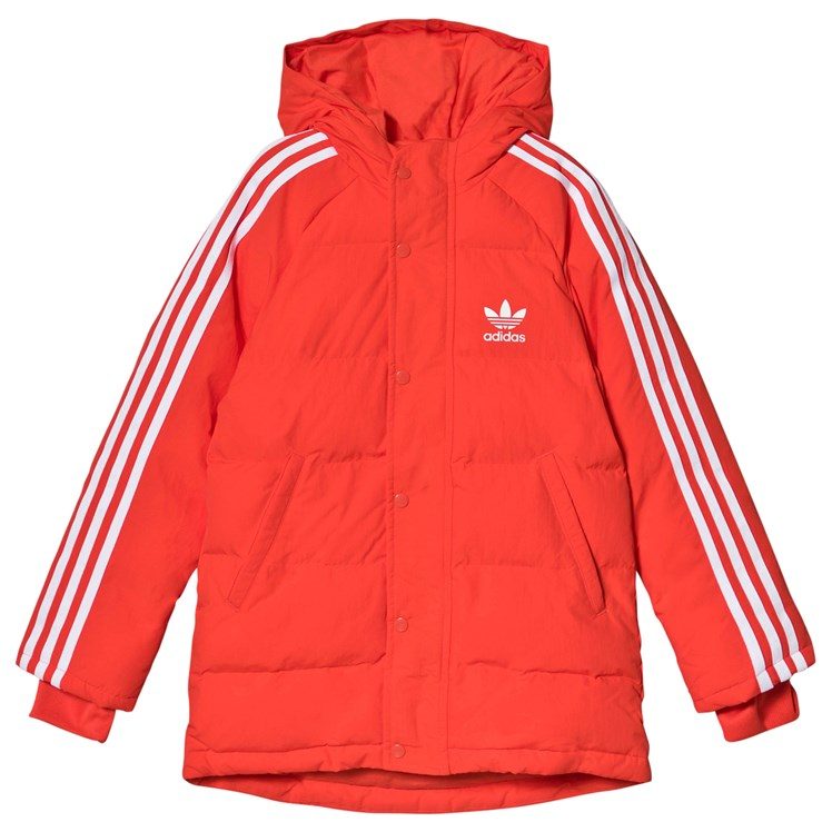 adidas Originals Red Trefoil Logo Padded Jacket Babyshop.no