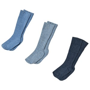 Image of United Colors of Benetton 3-Pack Blue and Navy Knitted Socks 62 (3/6 months) (3125268635)