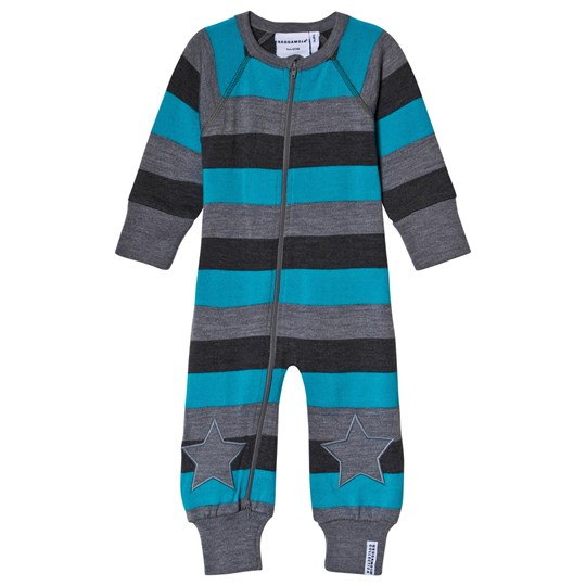 Geggamoja Wool One-Piece Grey/Blue Blue