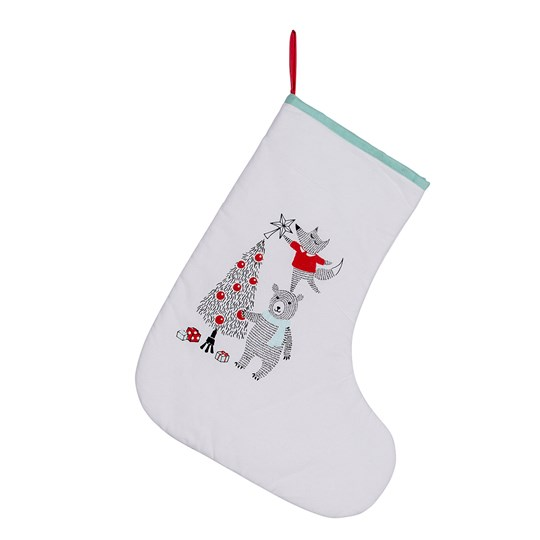 Bloomingville Twinkle Christmas Stocking White White