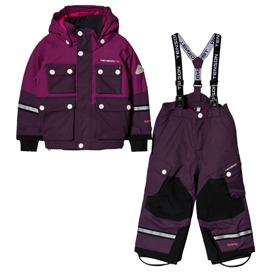 Tenson Breezy Skiing Snow Pants and Winter Jacket Set Purple Purple