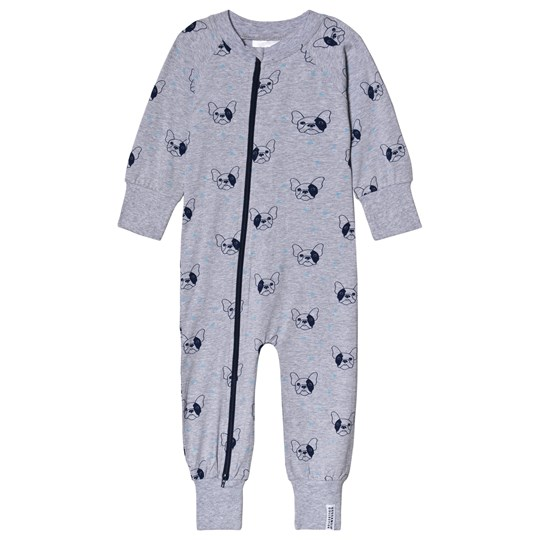 Geggamoja Bulldog One-Piece Grey Sort