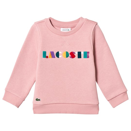 Lacoste Candy Pink Multicolor Branded Sweatshirt ANK