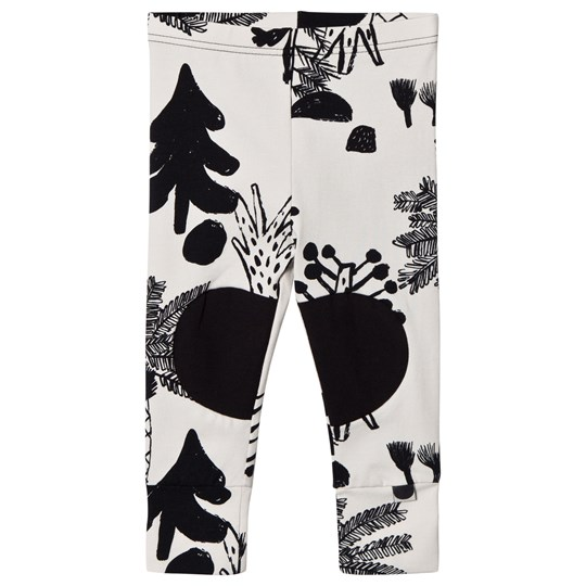 Papu Hidden Forest Patch Leggings White Multicolor