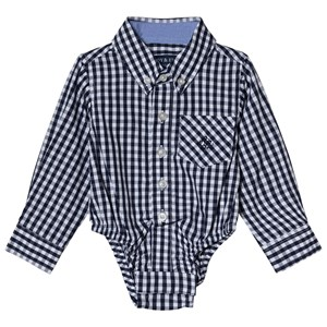 Image of Andy & Evan Navy Gingham Check Shirtzie 12-18 months (3125286477)