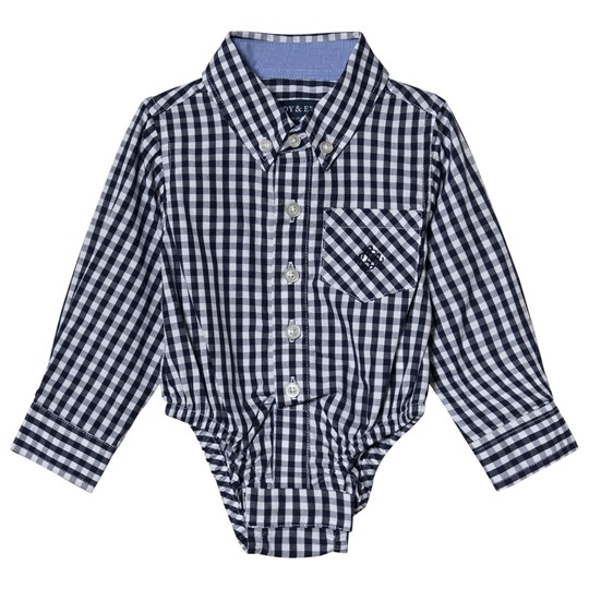 Andy & Evan Gingham Shirtzie Navy NVJ
