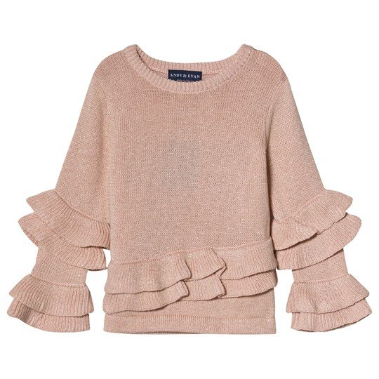 Andy & Evan Pink Ruffle Sweater PYK