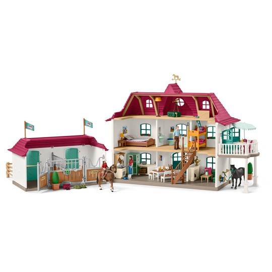 Schleich Country House with Horse Stable Pink