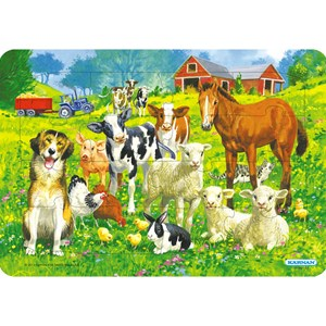 Image of Egmont Kärnan Farm Animals Puzzle with Frame 24 months - 5 years (844249)