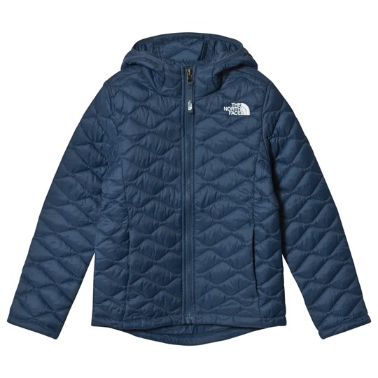 The North Face Navy ThermoBall Zip Through Hoodie Blue Wing Teal