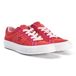 Converse Red One Star OX Sneakers