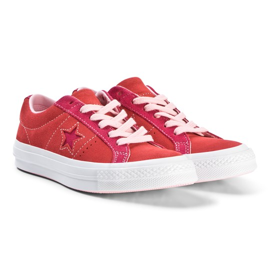 85e1f501afd5 Converse Red One Star OX Sneakers ENAMEL RED PINK POP ARTIC PUNCH