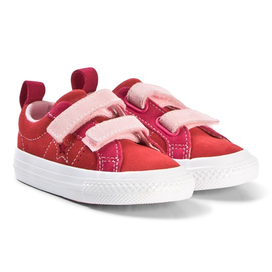 483e0a7210ac Converse Red and Pink One Star Infants Sneakers ENAMEL RED PINK POP ARCTIC  PUNCH