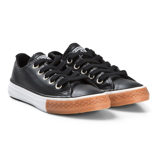 Converse Black Chuck Taylor All Star OX Junior Leather