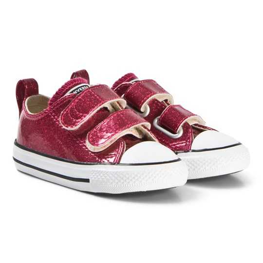 Converse Burgundy Chuck Taylor All Star 2V OX Infants Sneakers PINK POP/NATURAL/WHITE