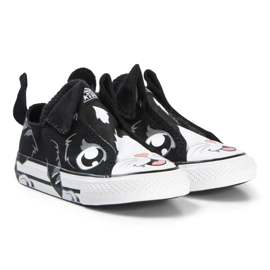 Converse Black Cat Chuck Taylor All Star Infants Sneakers BLACK/WHITE/MASON