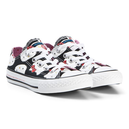 Converse Black Hello Kitty Faces One Star Sneakers Black