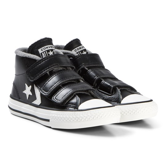 Converse Black Star Player 3V Junior Mid Sneakers BLACK/MASON/VINTAGE WHITE
