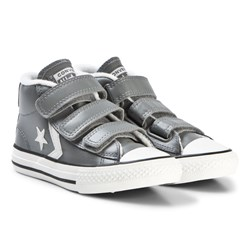 Converse Grey Star Player 3V Junior Mid Sneakers