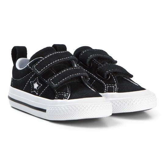 Converse Black One Star 2V OX Baby Sneakers BLACK/WHITE/WHITE