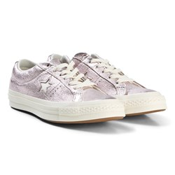 Converse Light Pink Metallic One Star OX Sneakers