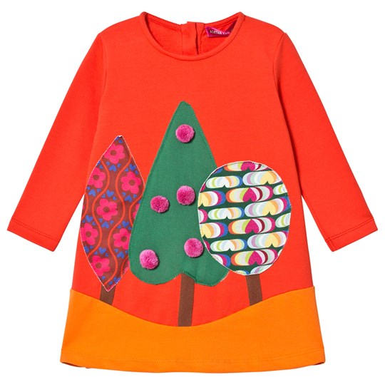 847e8837afbb Agatha Ruiz de la Prada - Red Fall Forest Pom-Pom Dress - Babyshop.com
