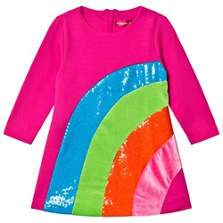 Agatha Ruiz de la Prada Pink Sequin Rainbow Dress