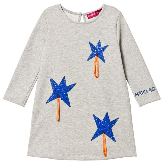 Agatha Ruiz de la Prada Grey & Blue Sparkle Star Dress White