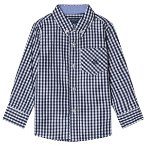 Image of Andy & Evan Navy Gingham Check Shirt 2 years (3125286481)