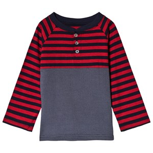 Image of Andy & Evan Grey and Navy/Red Striped Tee 11-12 years (3125278117)