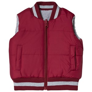 Image of Andy & Evan Maroon & Grey Reversible Teddy Fleece Gilet 2 years (3125283837)