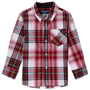 Image of Andy & Evan Red Plaid Shirt 11-12 years (3125283283)