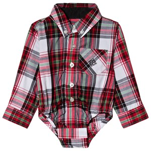 Image of Andy & Evan Red Plaid Shirtzie 12-18 months (3125283267)
